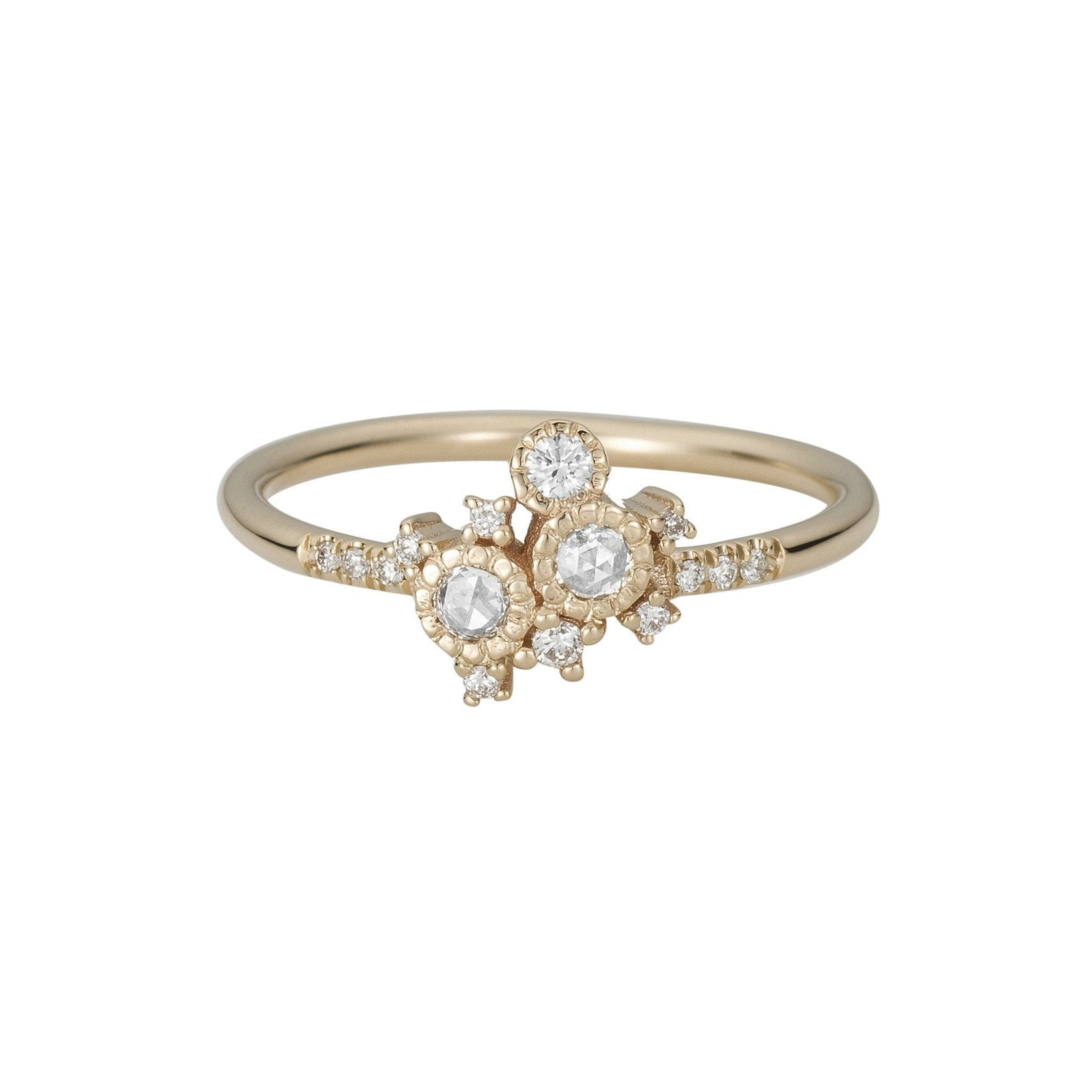 womens image rings halo ring round yellow cluster engagement diamond gold