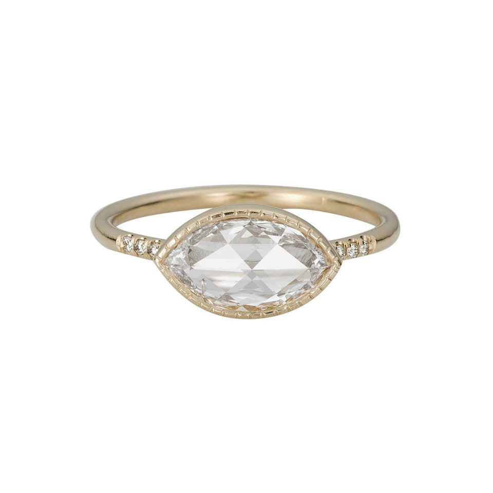 Rose Cut Marquise Diamond Equilibrium Ring
