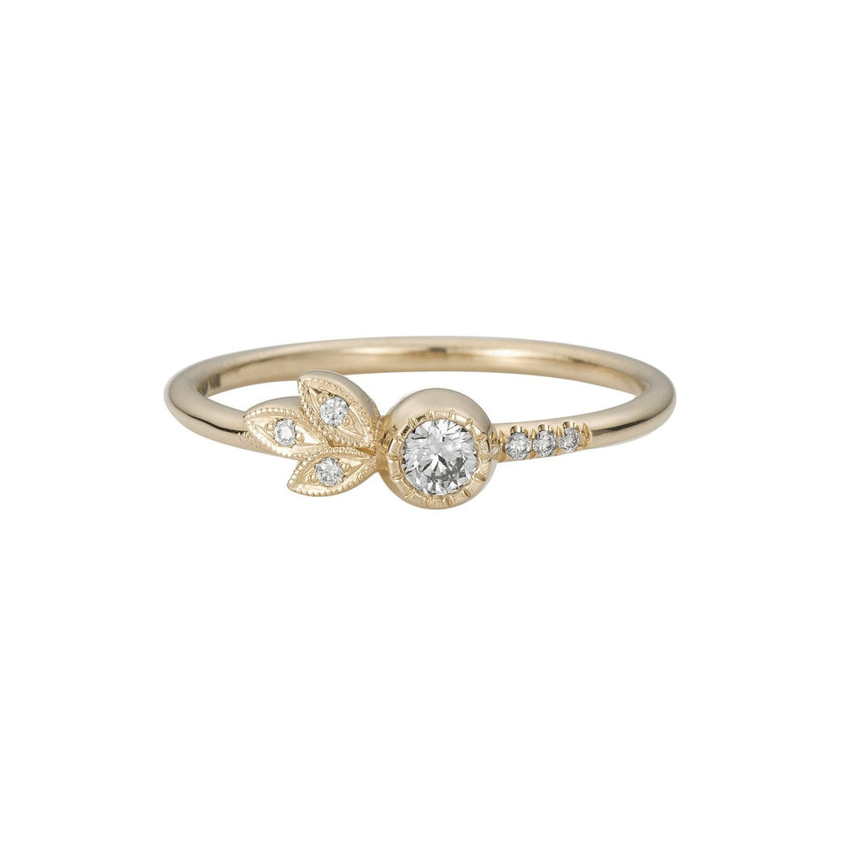 Diamond Leaf Ring