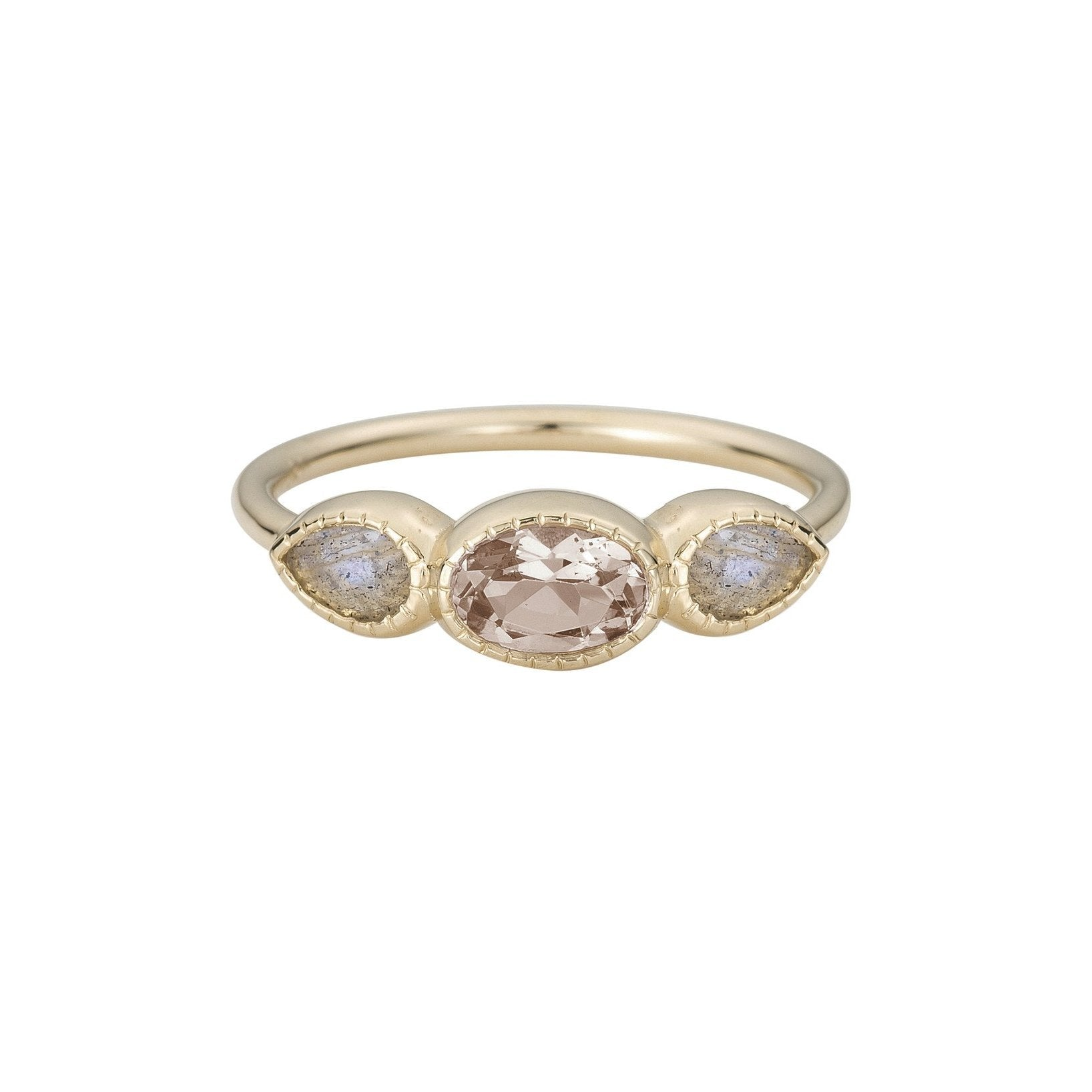 MORGANITE LAB RING