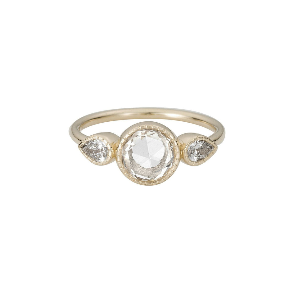 RC Round Diamond Pear Ring