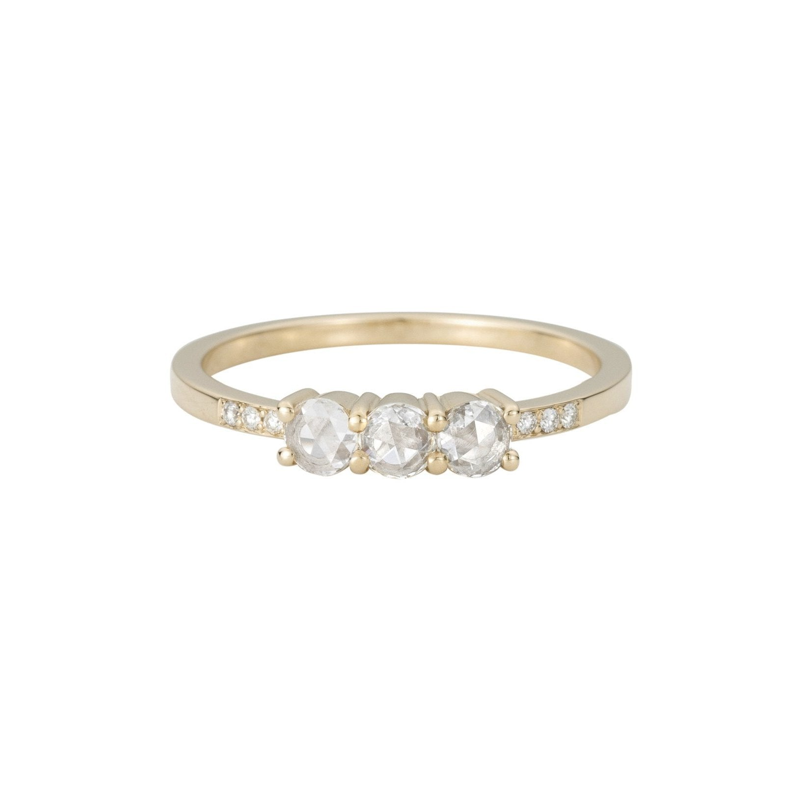 jessica stone trio ring bridal engagement three collection mccormack diamond