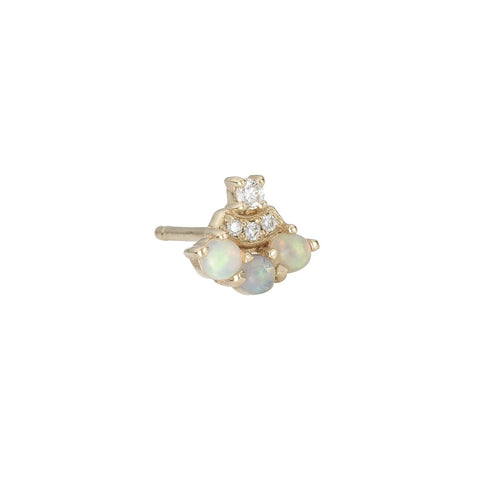 OPAL DIAMOND FAN STUD (SINGLE)