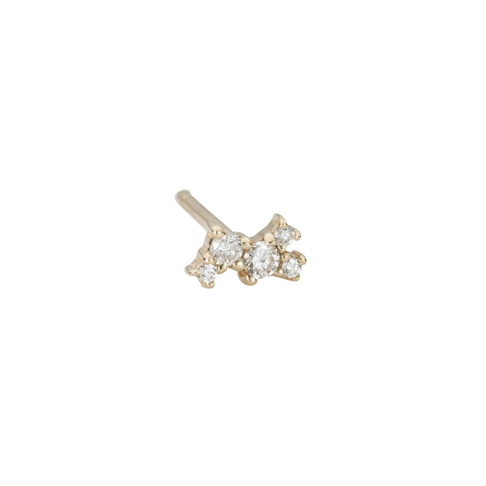 Diamond Cluster Stud (Single)