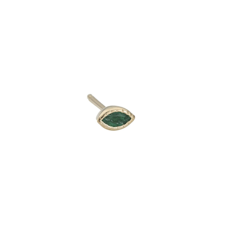 Emerald Marquise Stud (Single)