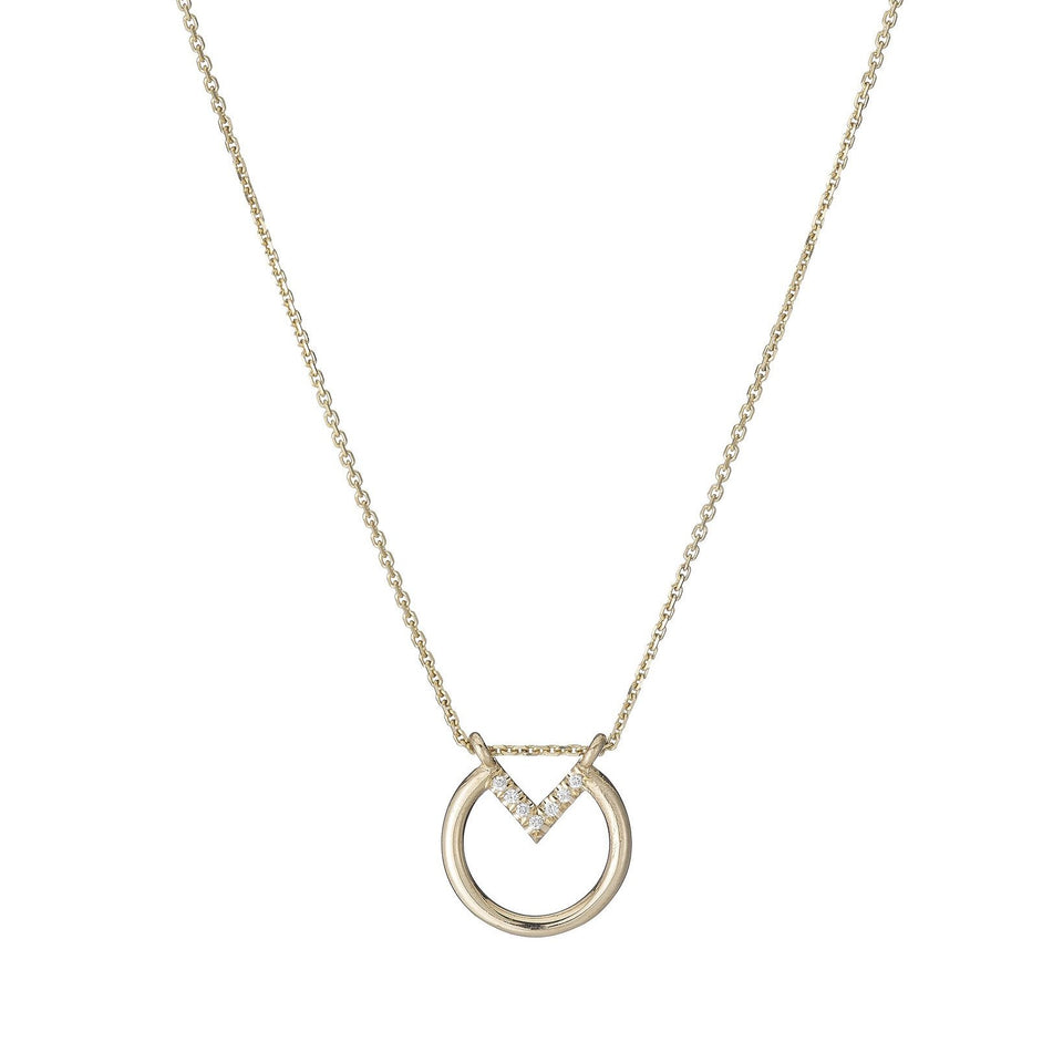 Open Diamond Circle Necklace