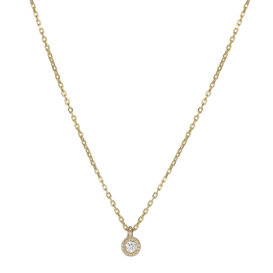 Milli Round Diamond Necklace