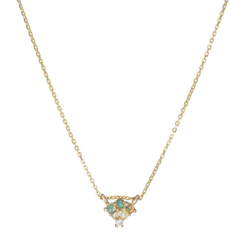 OPAL DIAMOND FAN NECKLACE