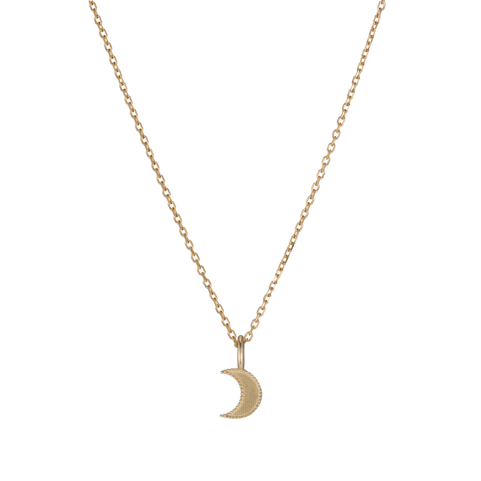 Beaded Moon Necklace