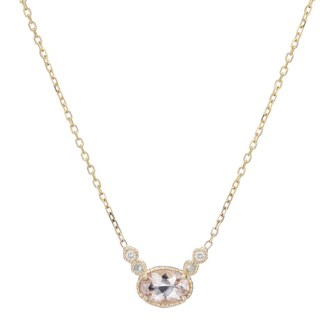 MORGANITE GREEN SAPPHIRE DEW NECKLACE