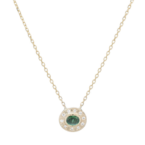 EMERALD HALO NECKLACE