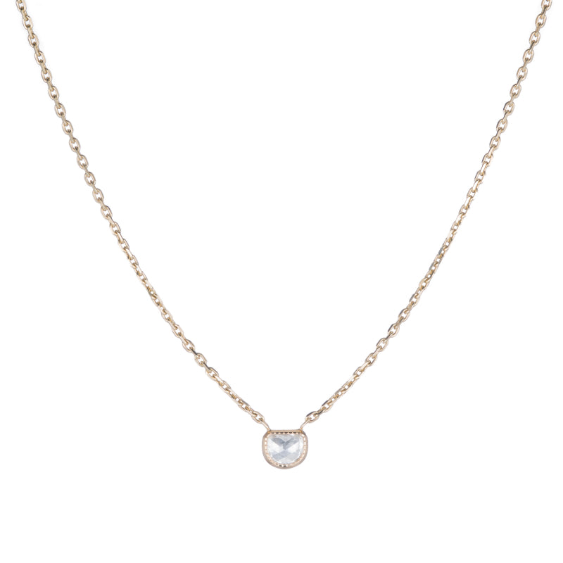 OAK Diamond Half Moon Necklace