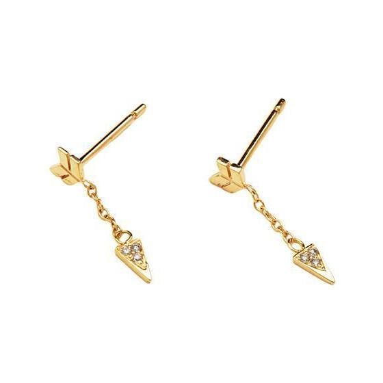 Diamond Arrow Earrings (Pair)