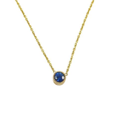 MAGIC EYE SAPPHIRE NECKLACE