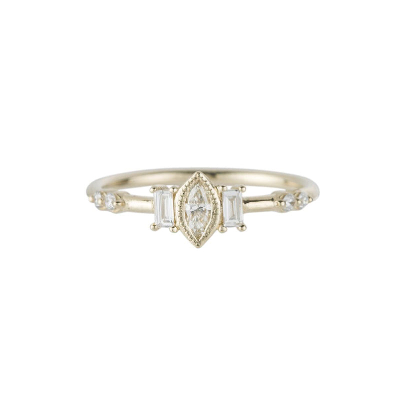 Marquise Diamond Solo Ring