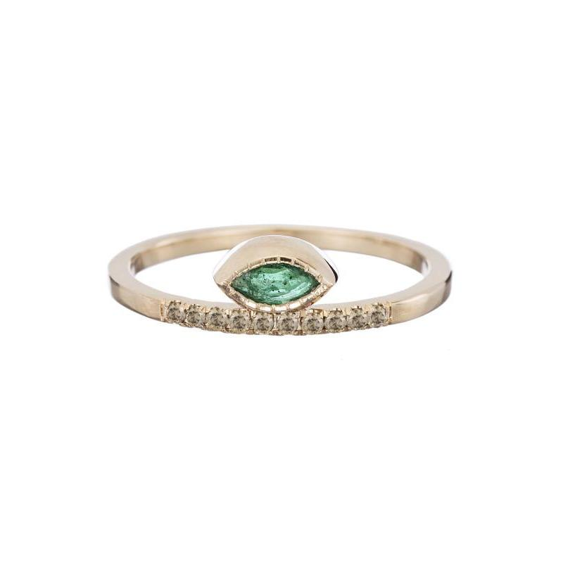 Marquise Emerald Balance Ring