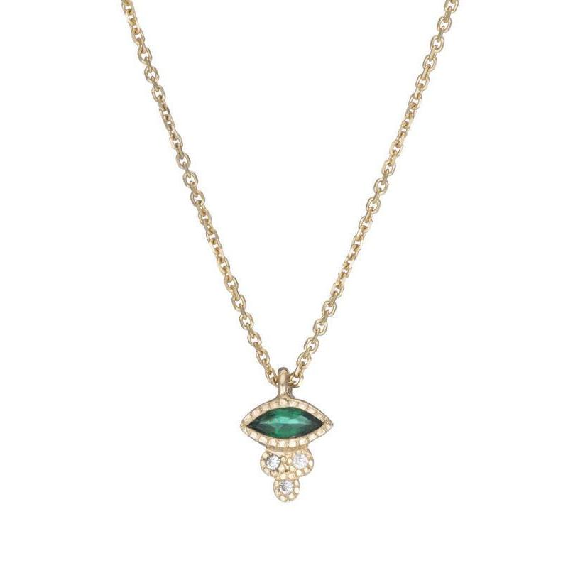 MARQUISE EMERALD CROWN NECKLACE