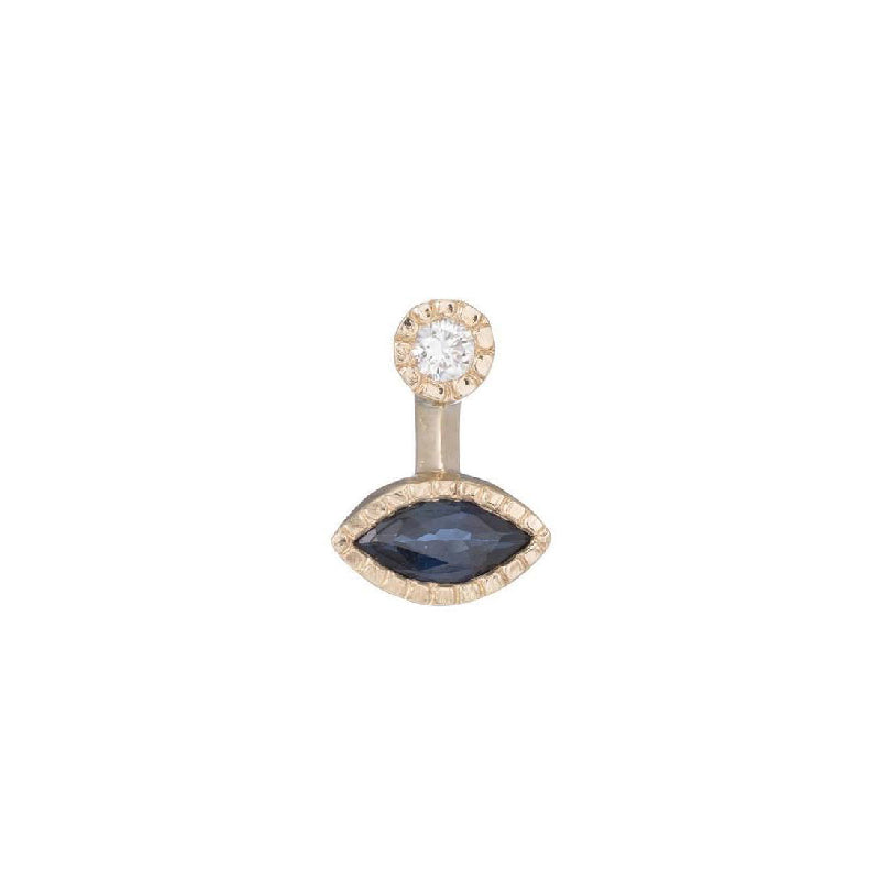 Marquise Sapphire Drop Stud (Single)