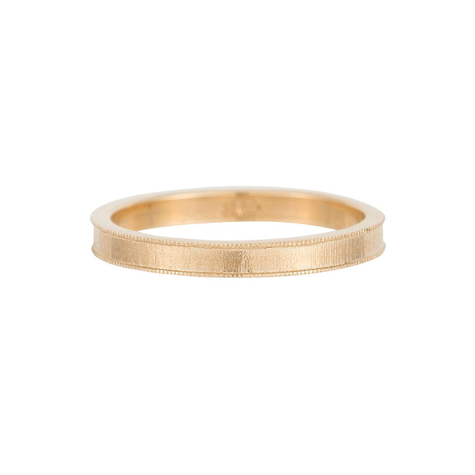 Milgrain Gold Band