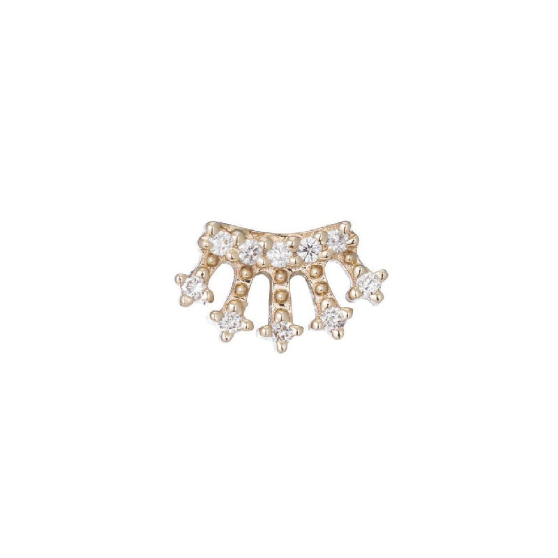 Mini Diamond Crown Stud (Single)