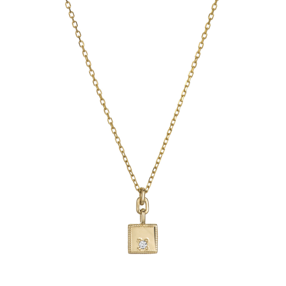 Square Diamond Mirror Pendant