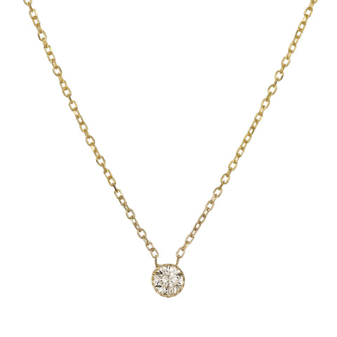 CHAMPAGNE DIAMOND MAGIC EYE NECKLACE