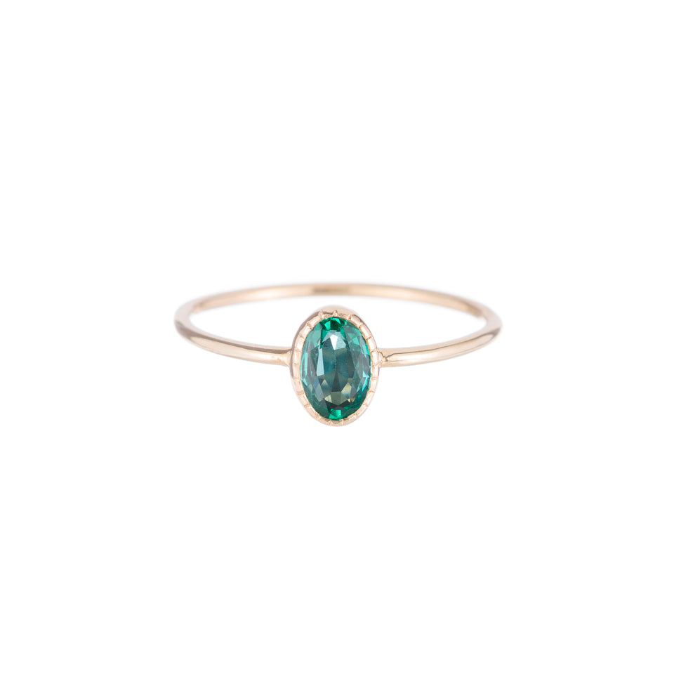 Oval Emerald Wisp Ring