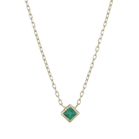 emerald, necklace, dainty jewelry, fine jewelry, layering necklaces