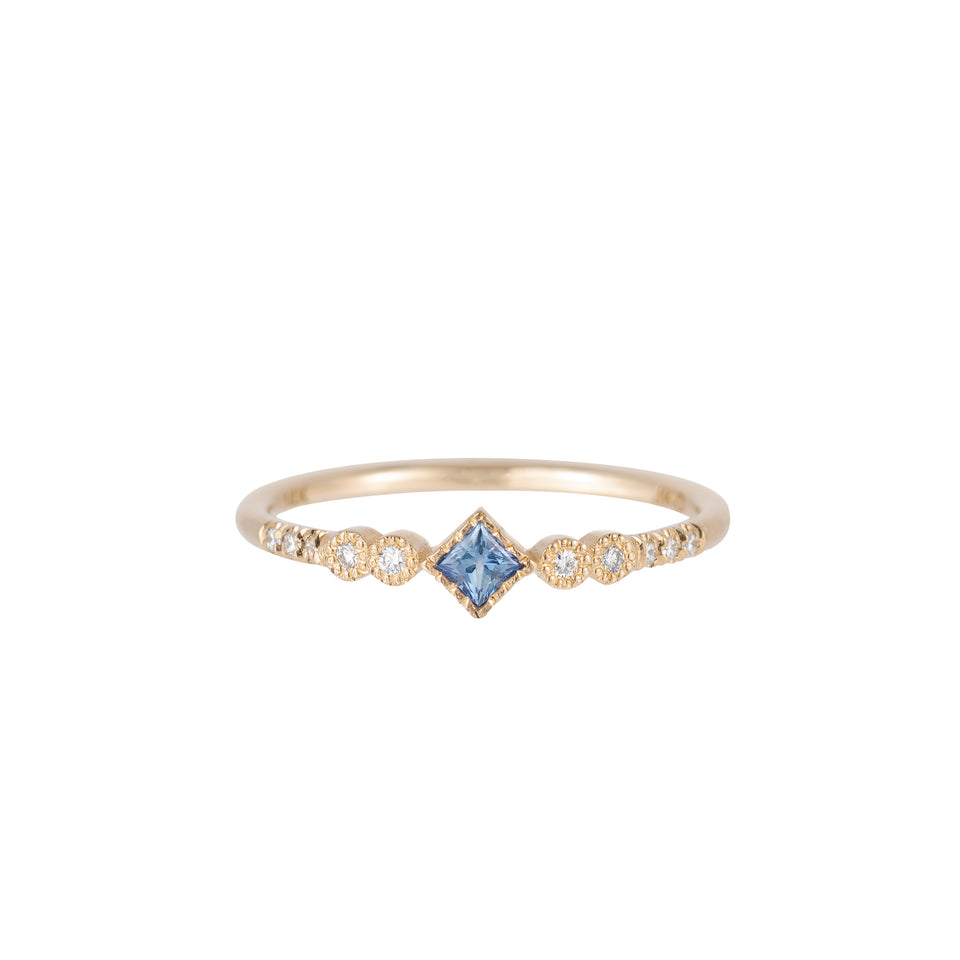 PRINCESS CUT SAPPHIRE JOURNEY RING