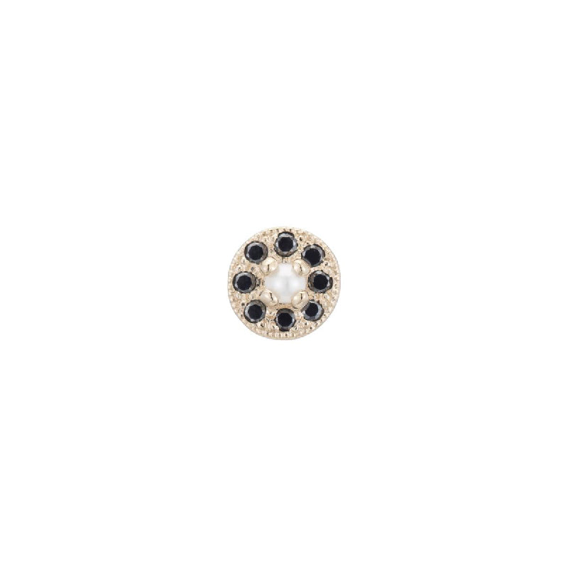 Pearl Halo Stud Earring (Single)