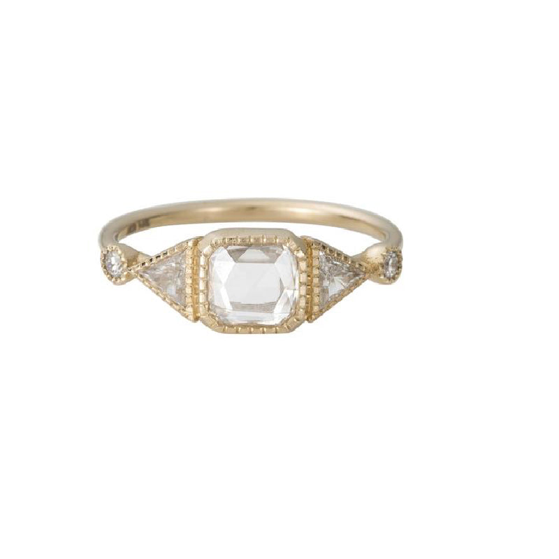RC Square Diamond Duo Deco Ring