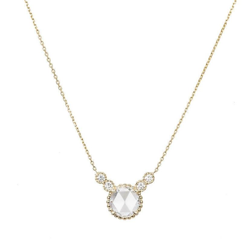 ROSE CUT DIAMOND DEW NECKLACE