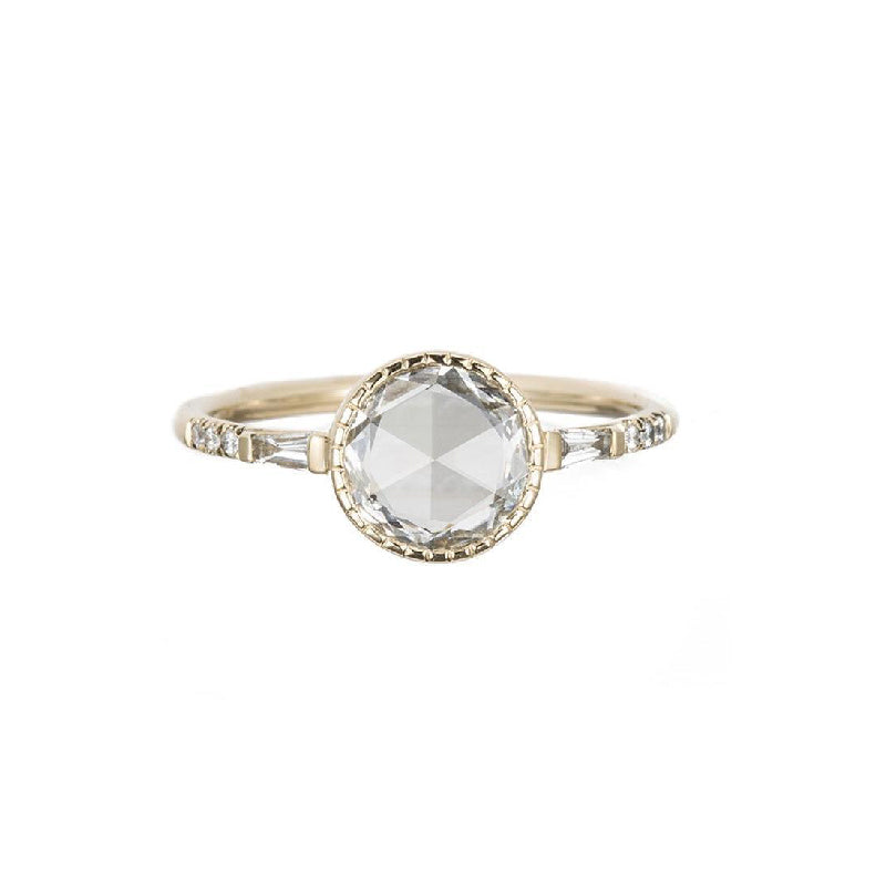 Round RC Diamond Baguette Ring
