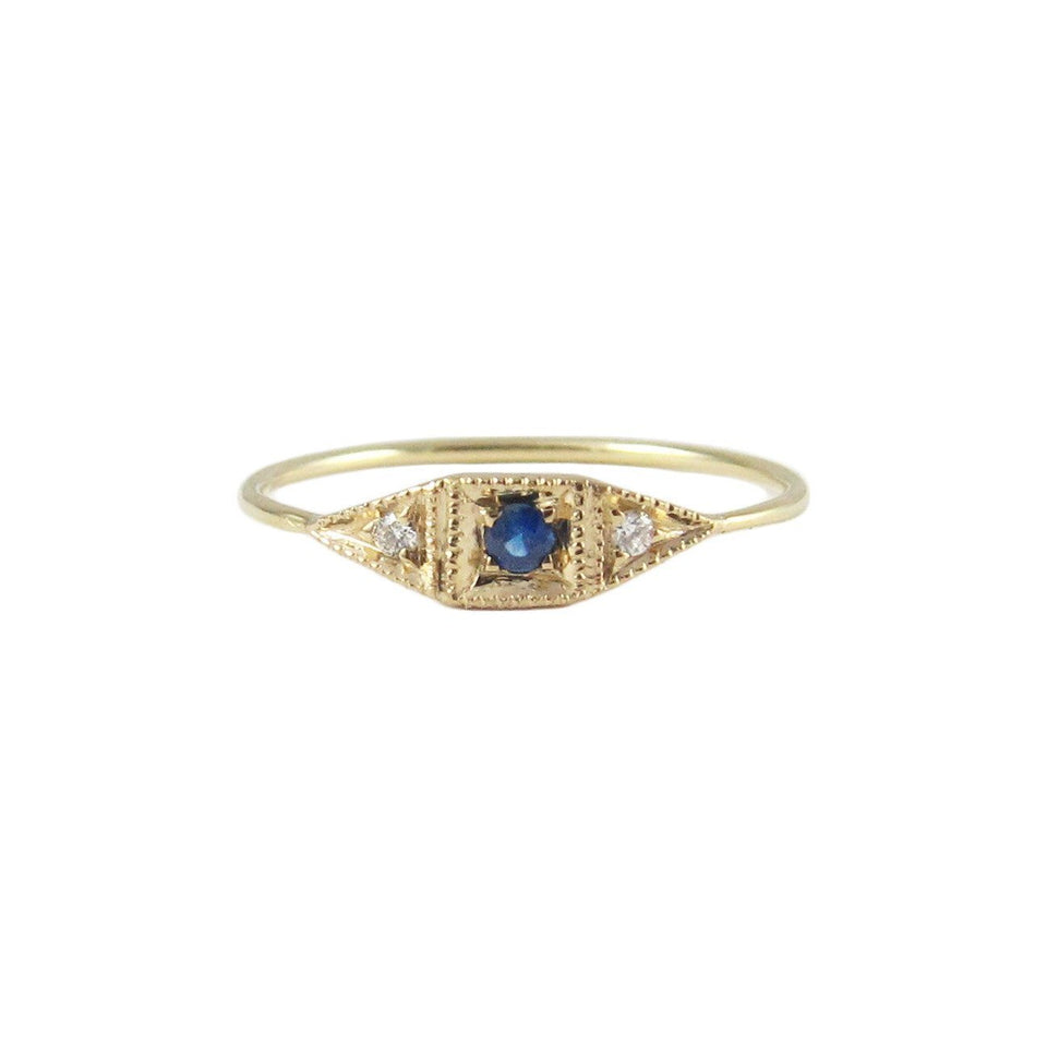 Sapphire Mini Deco Point Ring