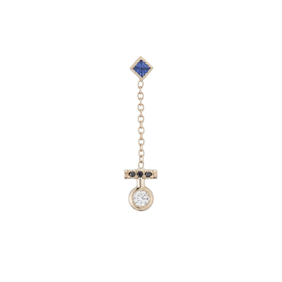 Sapphire Evolution Earring (Single)