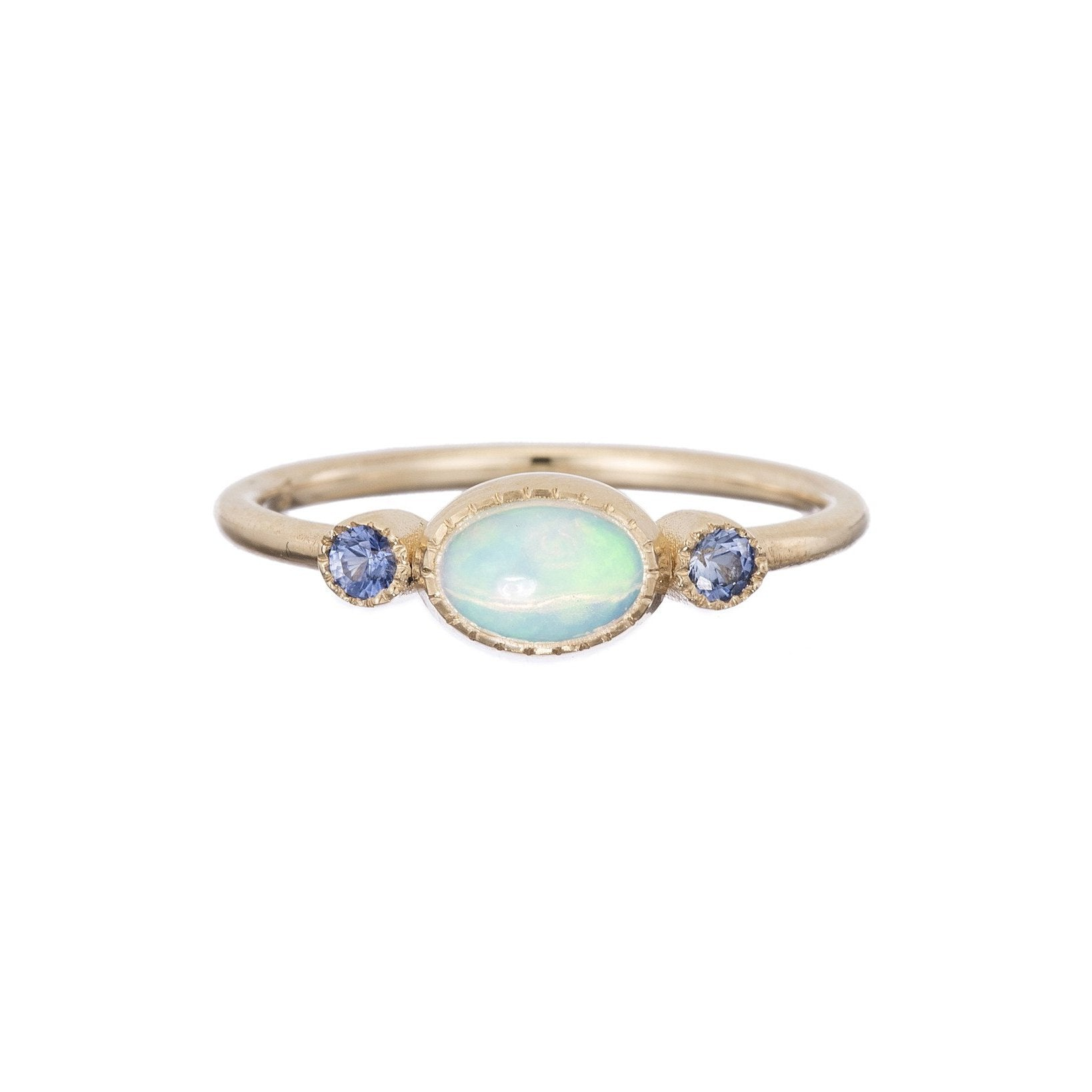 in sterling pink silver sapphire opal ring created halo