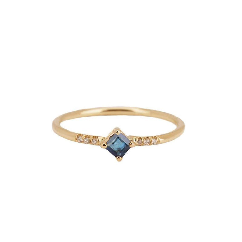 Sapphire Point Equilibrium Ring