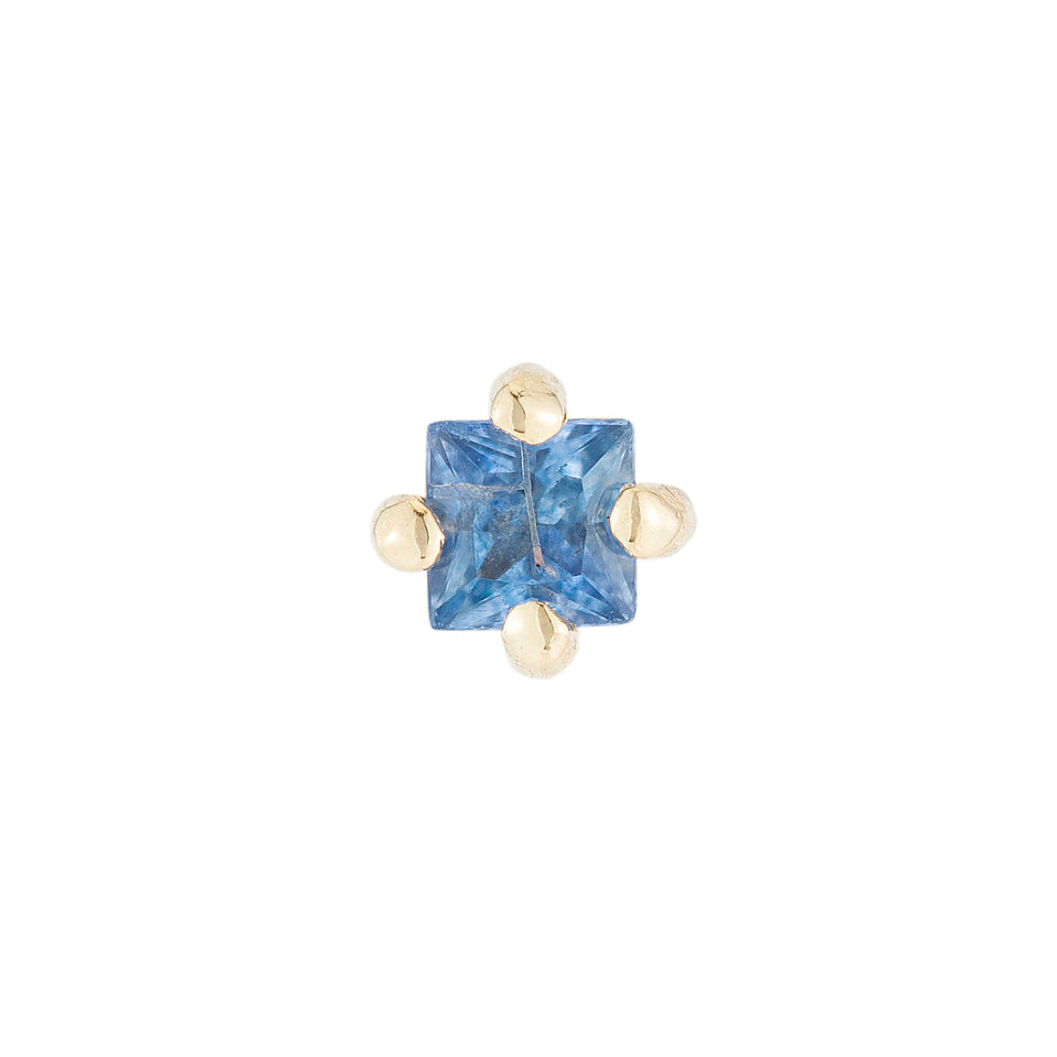 Sapphire Princess Cut Stud (Single)