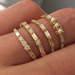 JKD stack of baguette style rings