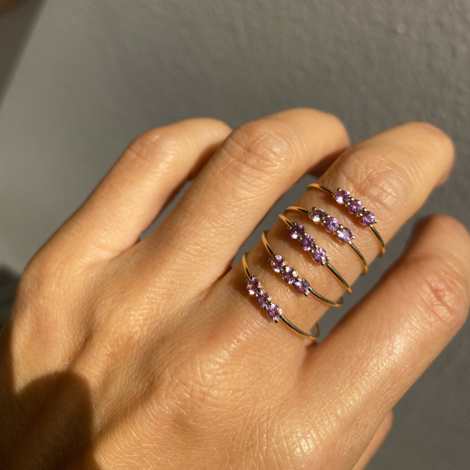 Pink Sapphire 3S Ring- Limited Edition