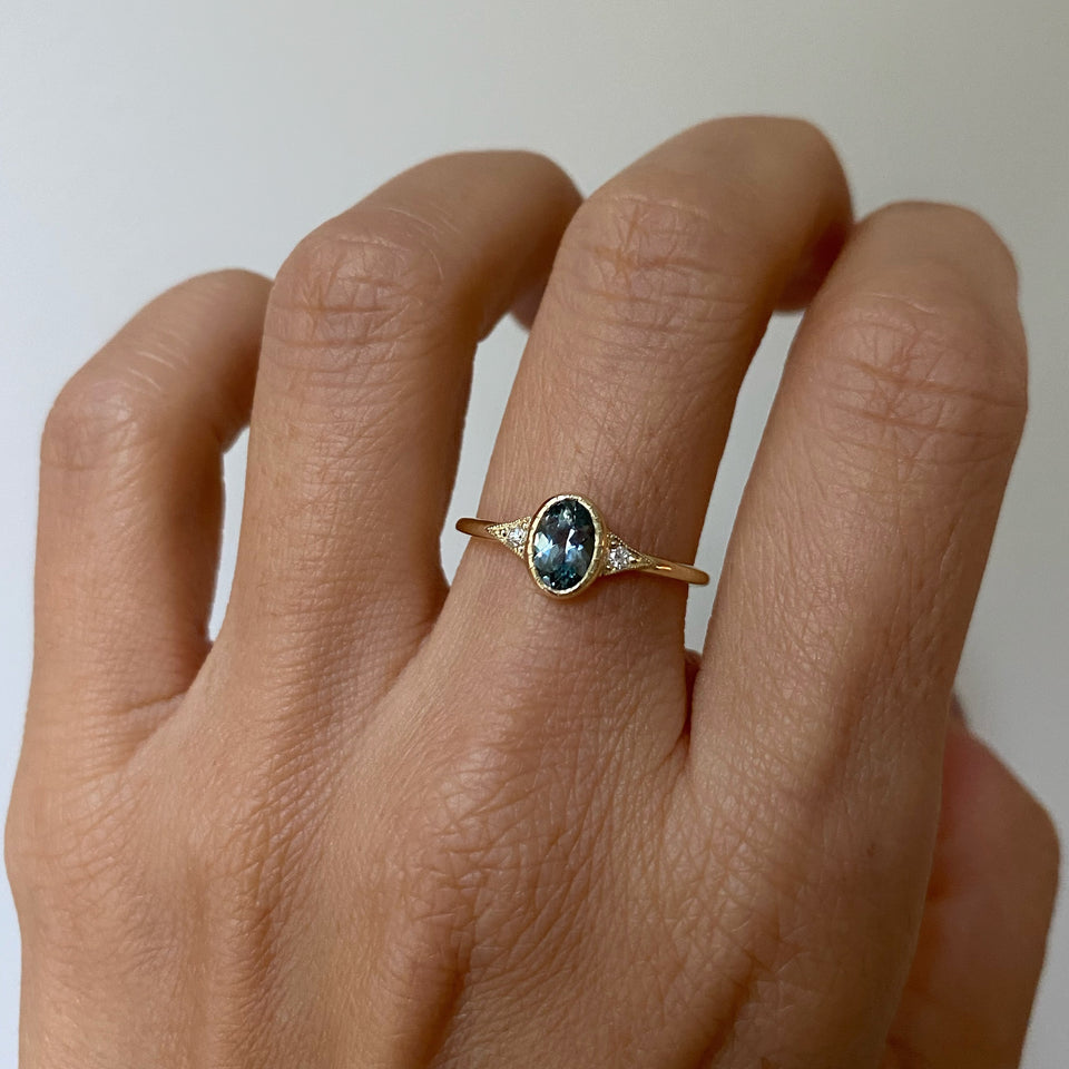 Labradorite Slice Ring