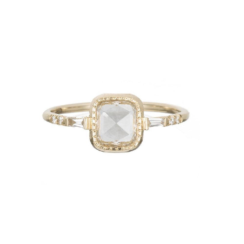 Square RC Diamond Baguette Ring