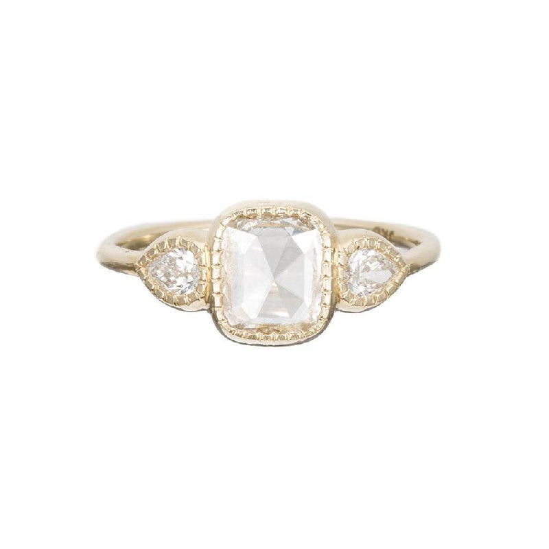 Square RC Diamond Pear Ring