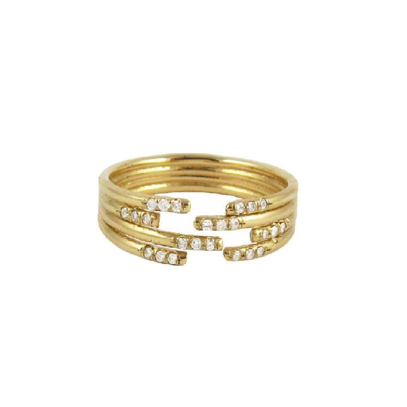 Stacked Diamond Cuff Ring