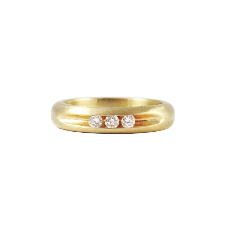White Diamond Channel Set Band