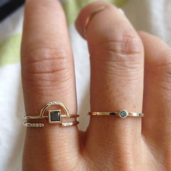BLACK DIAMOND ARCH RING