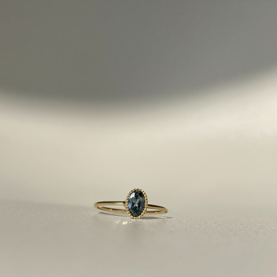 One of a Kind Montana Sapphire Oval Wisp Ring