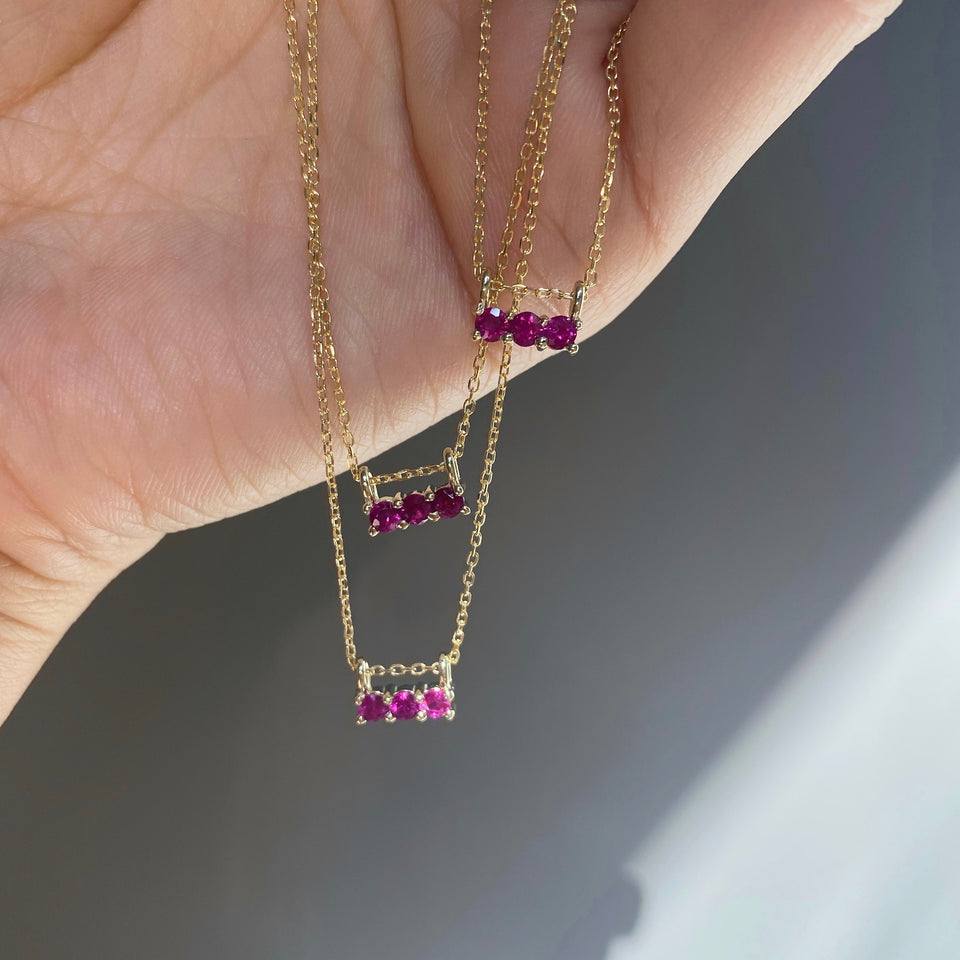 RUBY 3S NECKLACE