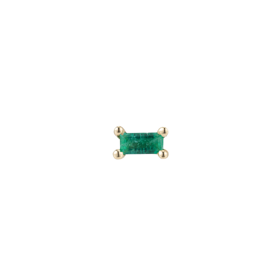 EMERALD BAGUETTE STUD (SINGLE)