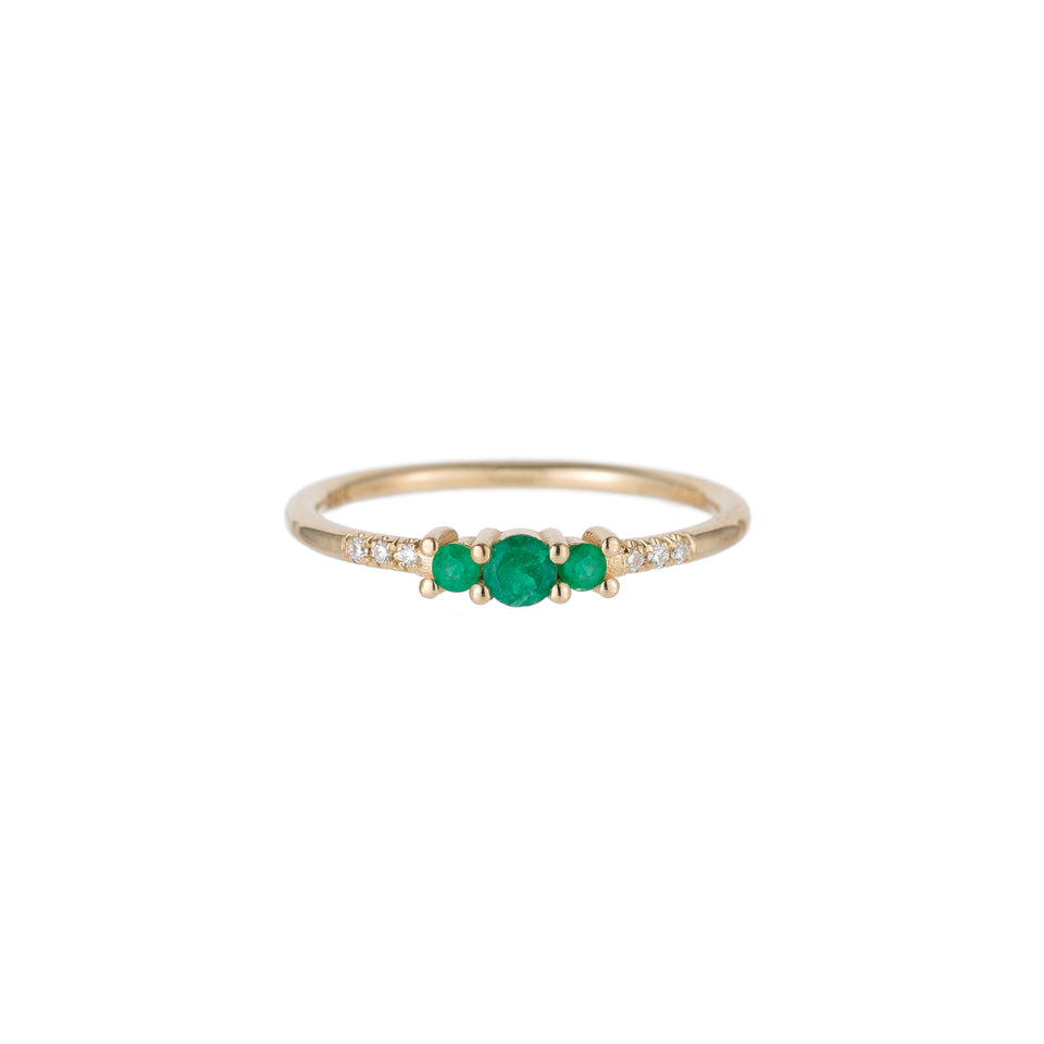 EMERALD TRIO EQUILIBRIUM RING